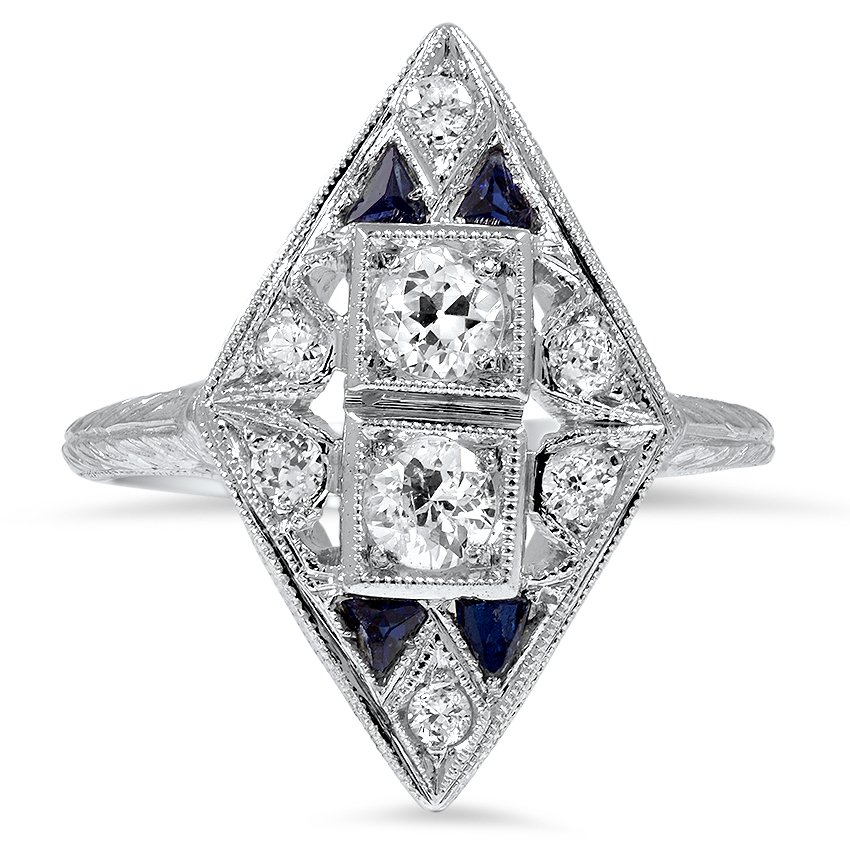 Triska Art Deco Engagement Ring