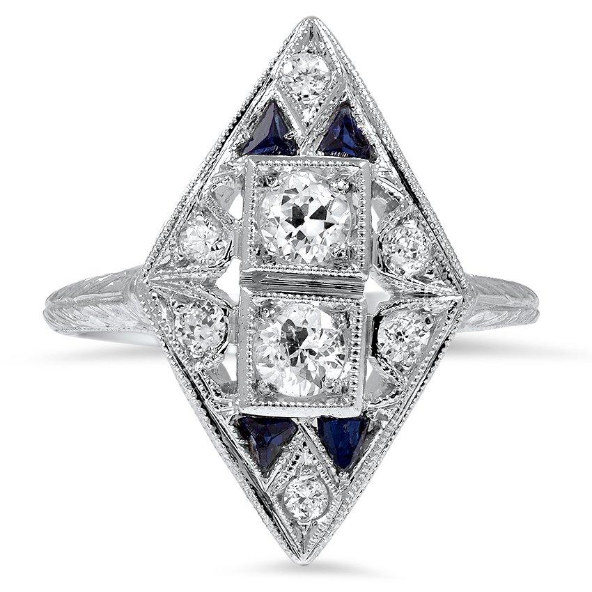 Triska Art Deco Engagement Ring