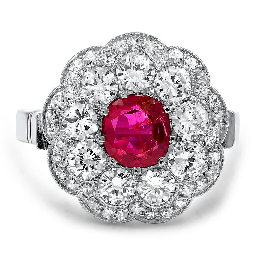 Vedette Art Deco Engagement Ring