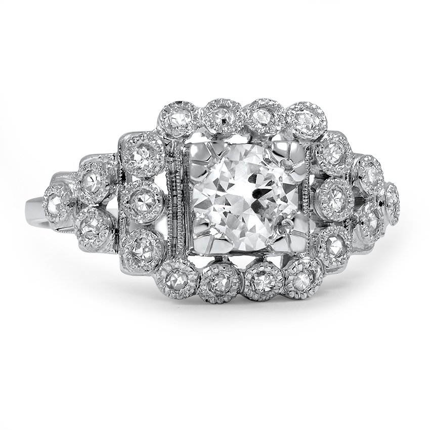 Kalkora Art Deco Engagement Ring
