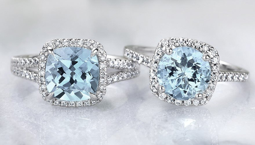 Aquamarine Rings Brilliant Earth