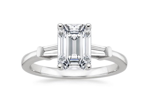 Tapered Baguetted Diamond Ring Jpg
