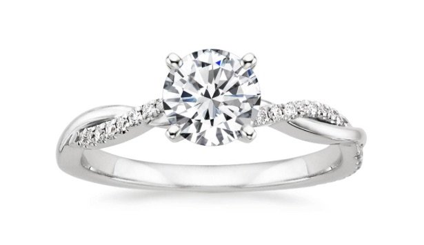 Twisted Vine Engagement Ring copy
