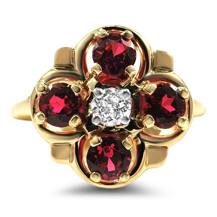 Ruby and Gold Vintage Ring