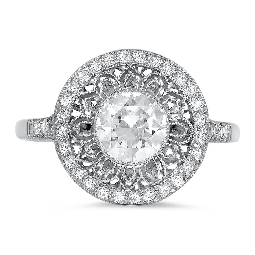 modern estate vintage engagement ring