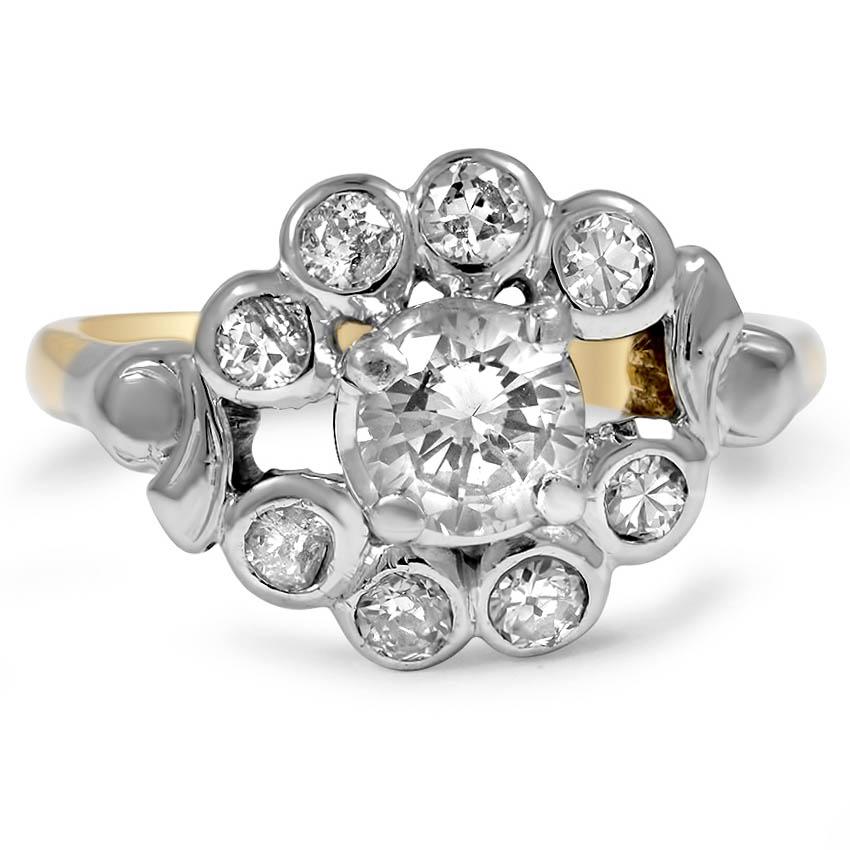 Retro vintage engagement ring