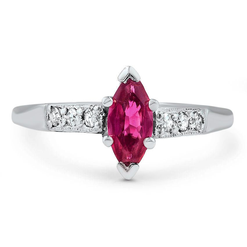 the kristyn ring shop now this stunning art deco ruby engagement ring - Ruby Wedding Ring