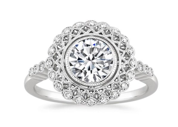 Alvadora Halo Engagement Ring copy