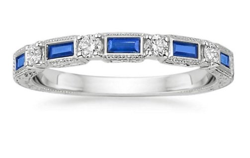 vintage sapphire band