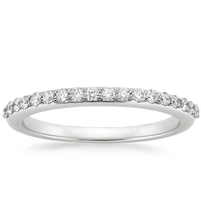 Petite shared prong wedding ring