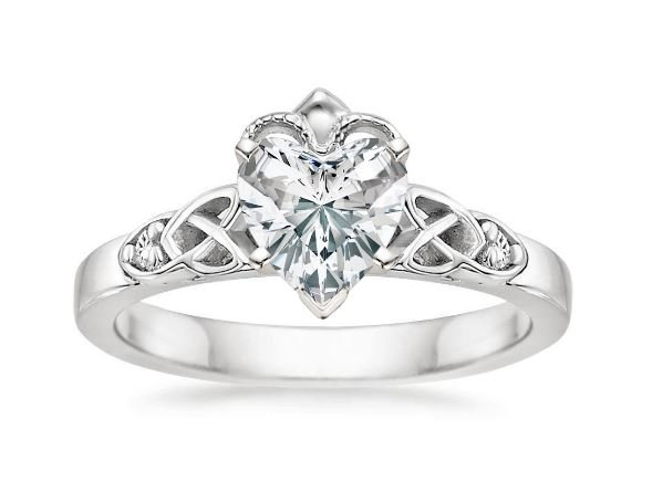 diamond claddagh wedding ring sets engagement rings brilliant earth 3512