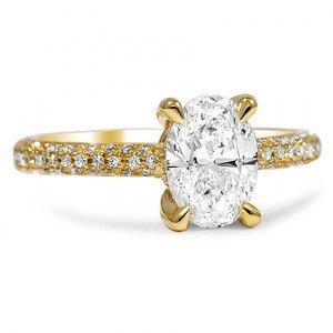 petite pave custom ring