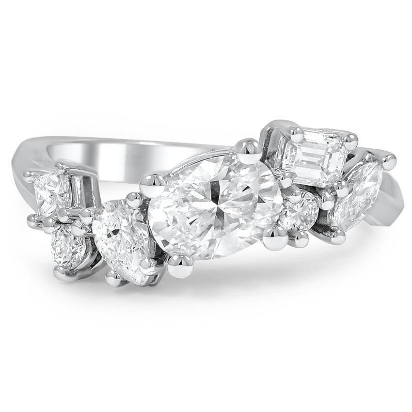 diamond ring wide multiple band designer medium wedding rings