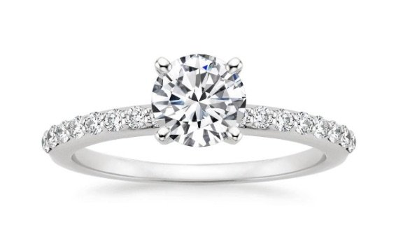 Petite Shared Prong Diamond Engagement Ring copy