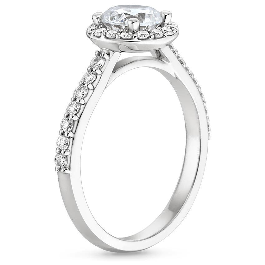 diamond ring with side stones shop now - Wedding Bands And Engagement Rings