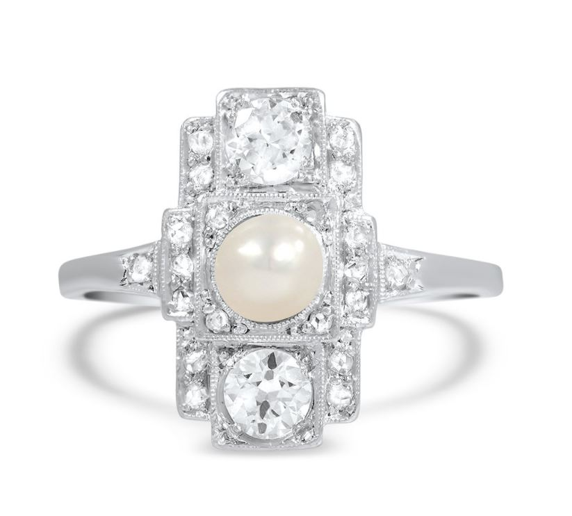 and ring your womens gold pearl rings wedding engagement with pearls personalise