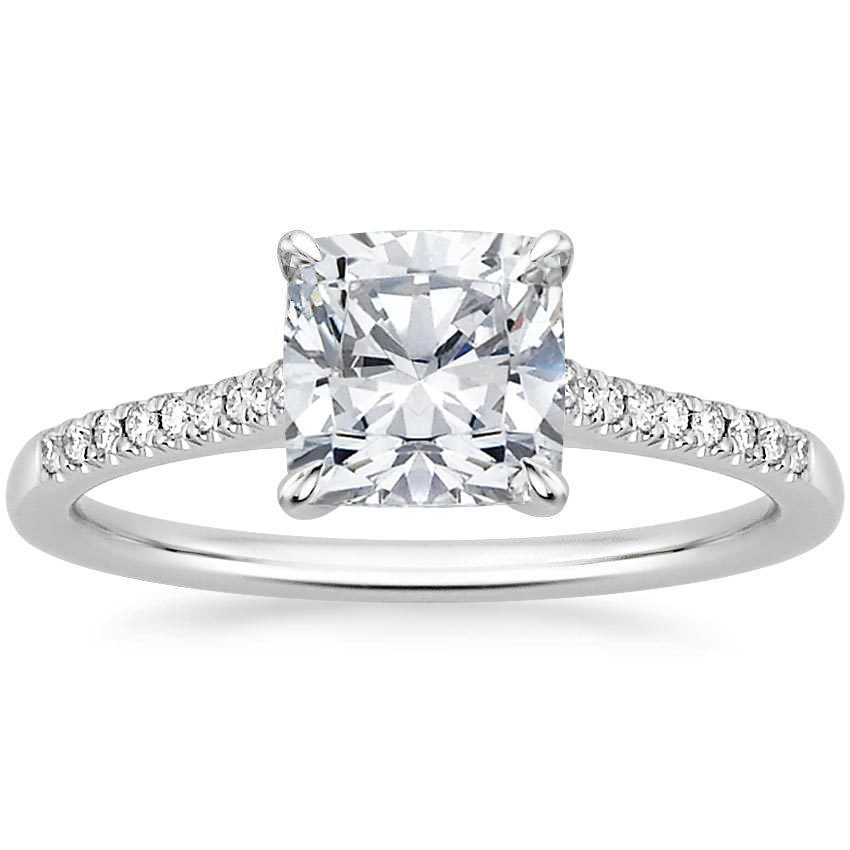 Lissome Ring with cushion cut diamond