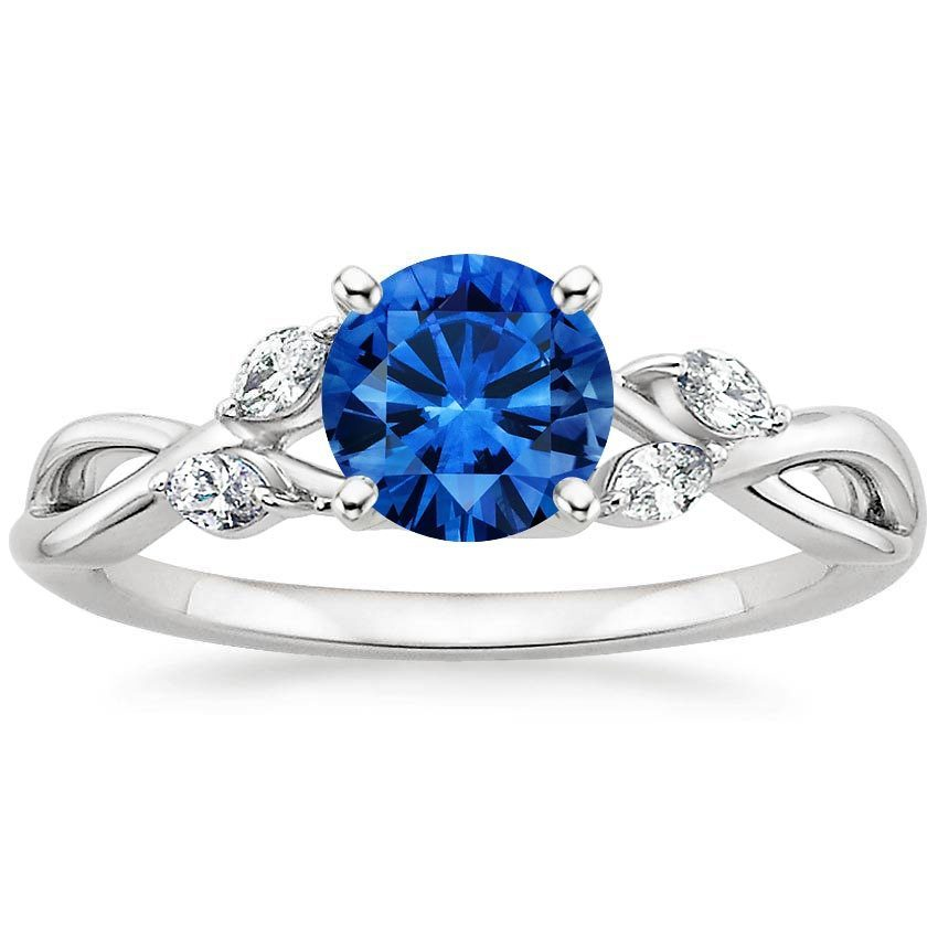 Sapphire Willow Diamond Ring