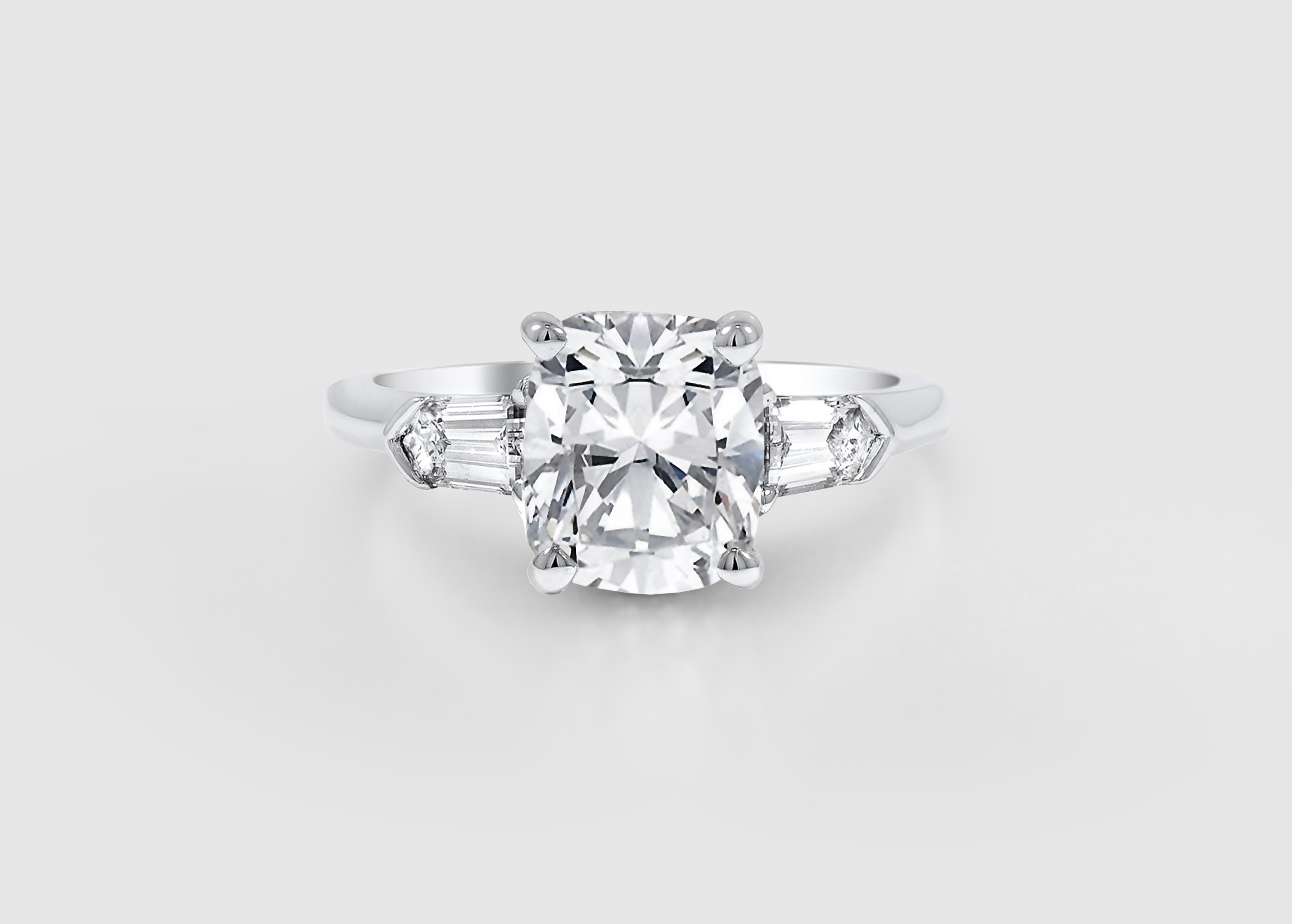 plain claw ring engagement with diamond band rings setting