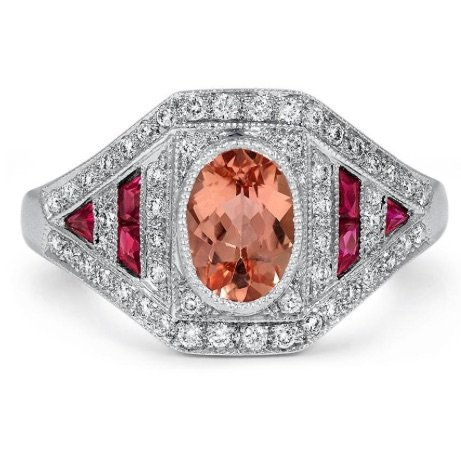 peach engagement ring copy