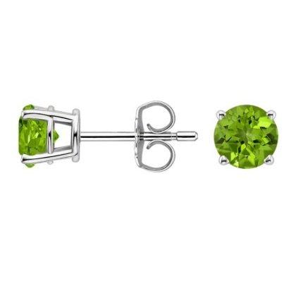 peridot stud earrings copy