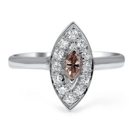 vintage brown diamond engagement ring copy