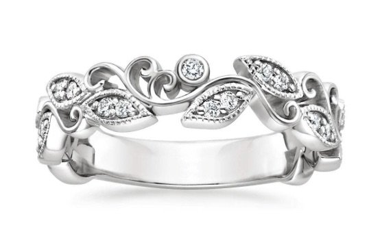 Ivy Scroll Diamond Ring copy