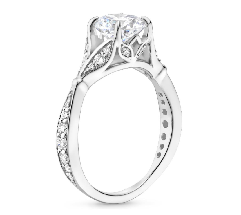 in band engagement on with solitaire rings for diamond stunning bands wedding ring