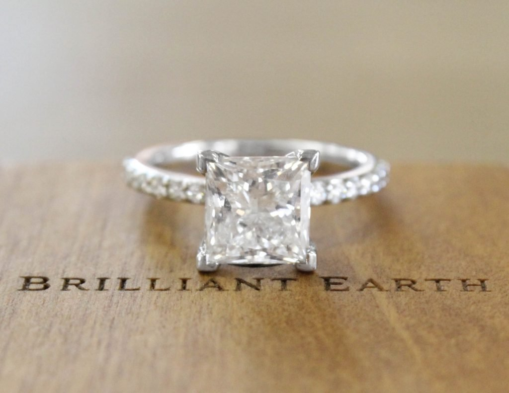 rings milgrain shared two prong engagement diamond eternity london by band