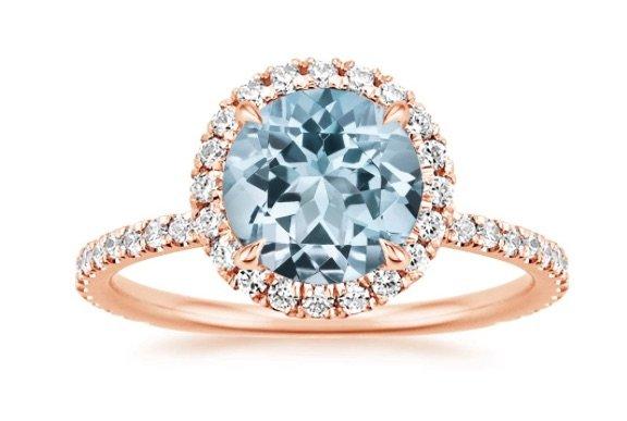Aquamarine Halo Waverly Engagement Ring copy