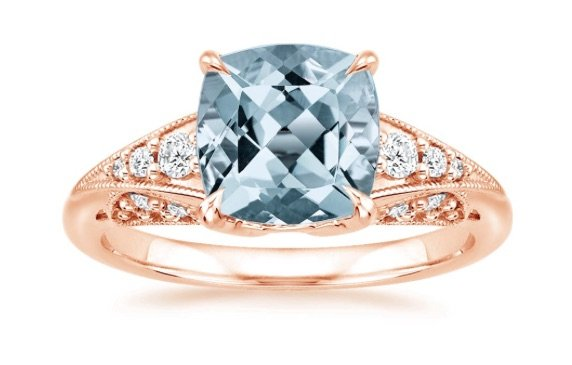 Aquamarine rose gold serafina engagement ring copy