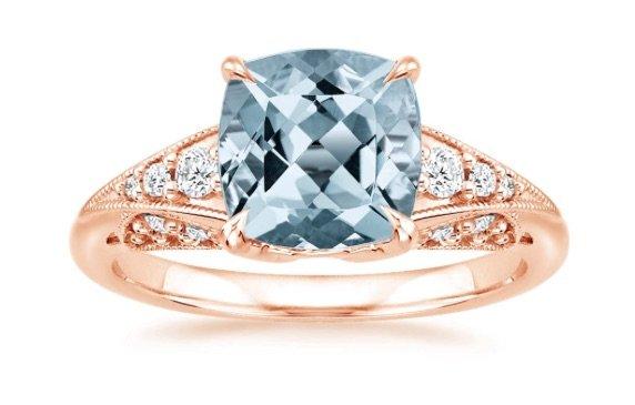 Aquamarine rose gold serafina engagement ring copy