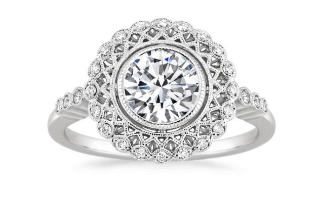 Shop Now Vintage Halo Chicago Engagement Ring Copy