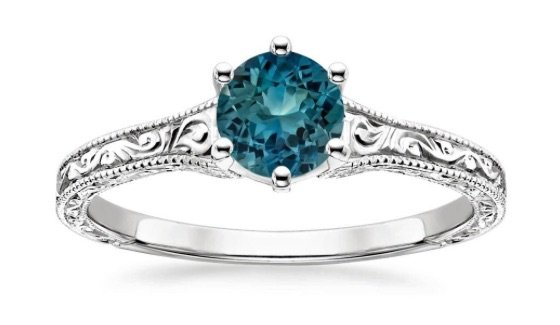 teal sapphire engagement ring chicago copy