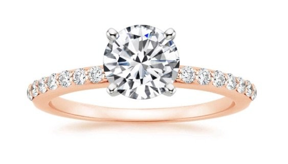 chicago engagement ring rose gold copy