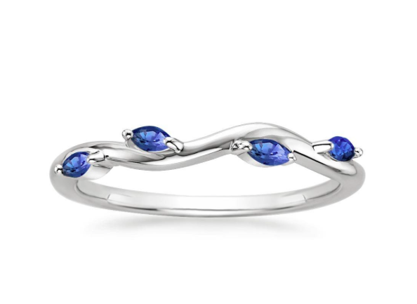 Winding willow sapphire ring