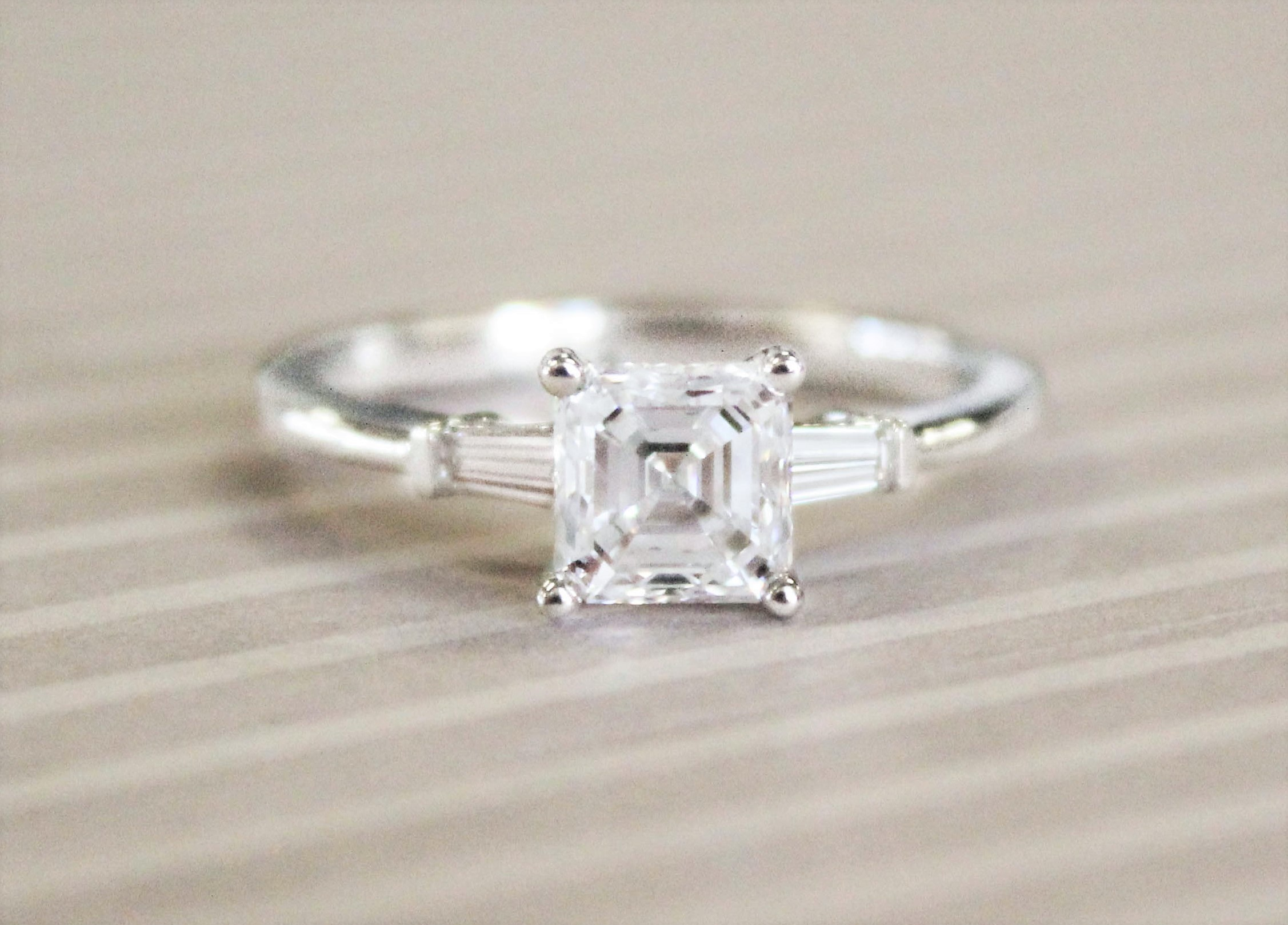 engagement rings as their name alludes to baguette diamonds are