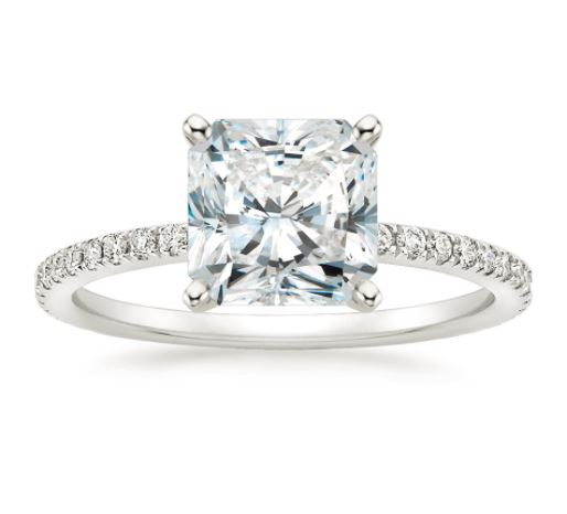 solitaire cut diamond radiant ring modern