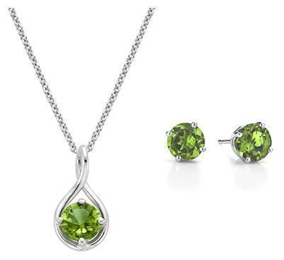 loading stones pendant sterling with birthstone kitten pendants in silver cubic zirconia cat necklaces necklace peridot zoom charm birthstones and