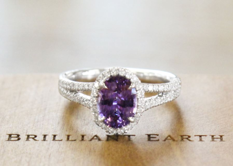 Enchanting Purple Engagement Rings Brilliant Earth
