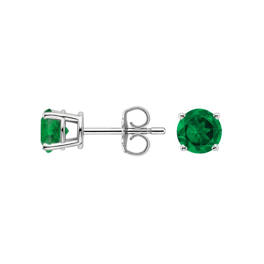 Emerald-Stud-Earrings