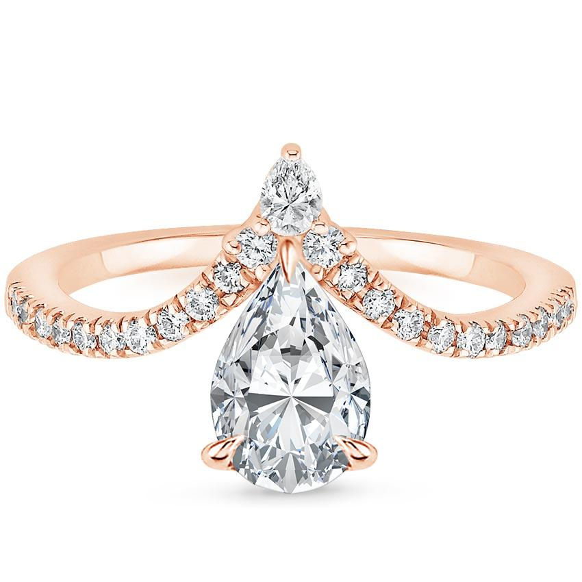 basin erie ring diamond cocktail pear rings