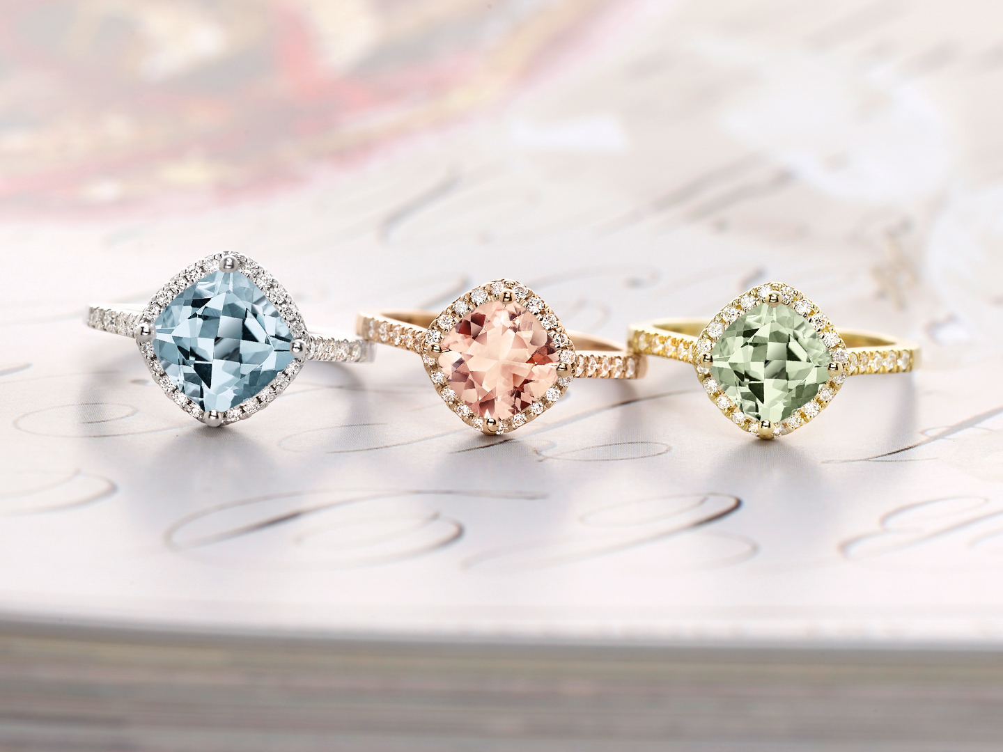 brides colored with fancy gallery engagement cut rings blue radiant light pink and broumand ring mark colorful stones diamond