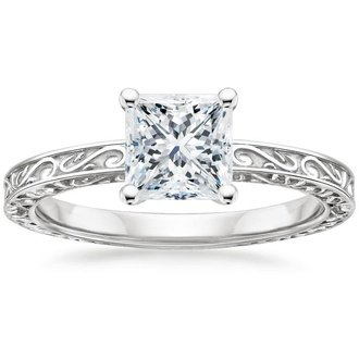 Delicate-Antique-Scroll-Solitaire-Ring
