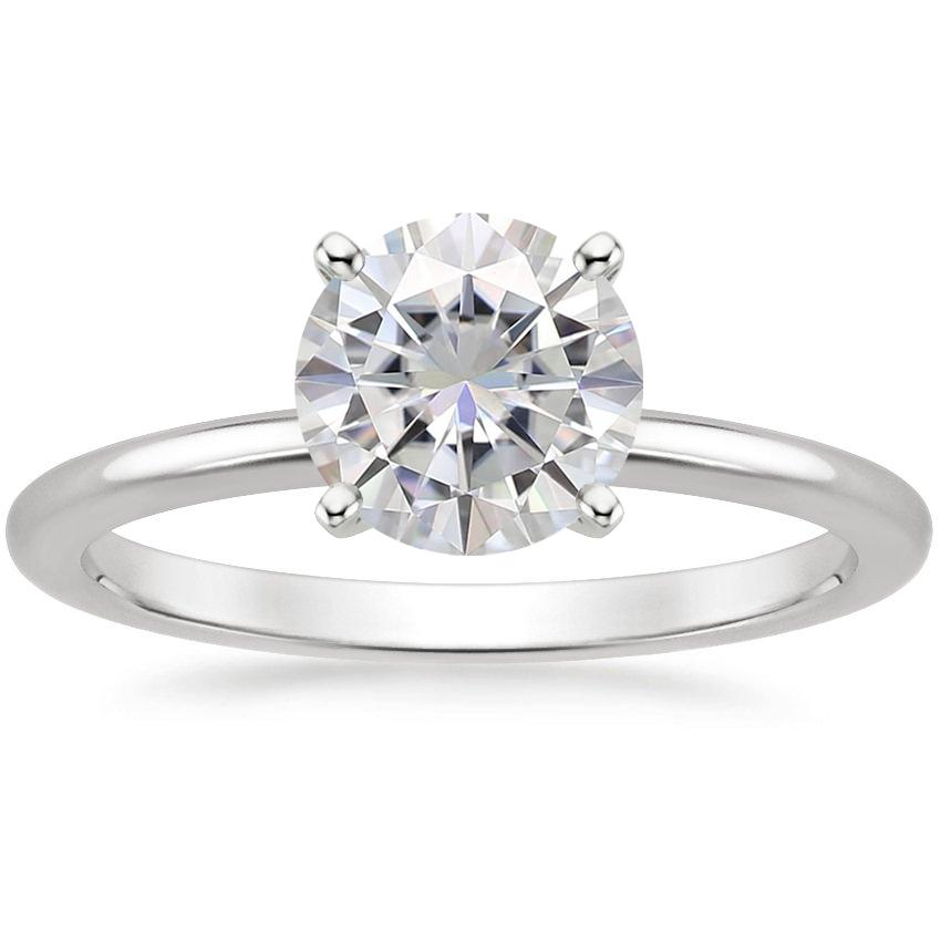 Moissanite-Four-Prong-Petite-Comfort-Fit-Ring