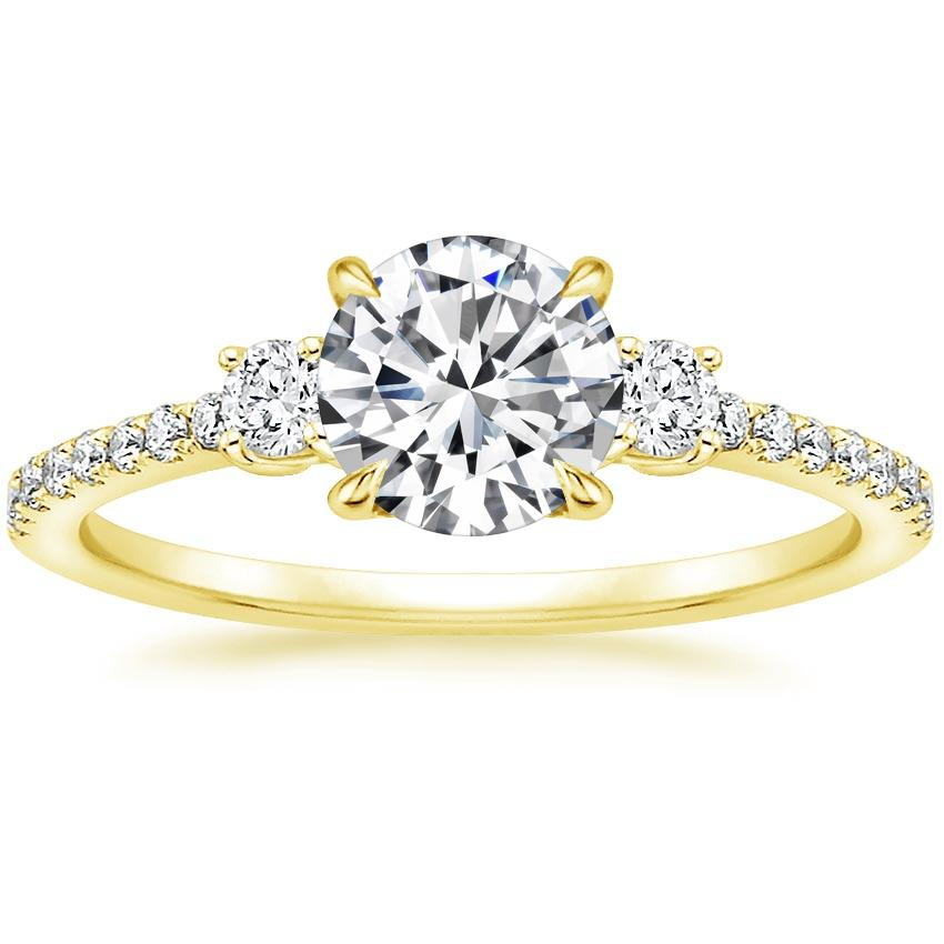 3faf3005045 Three Stone Accented Engagement Ring