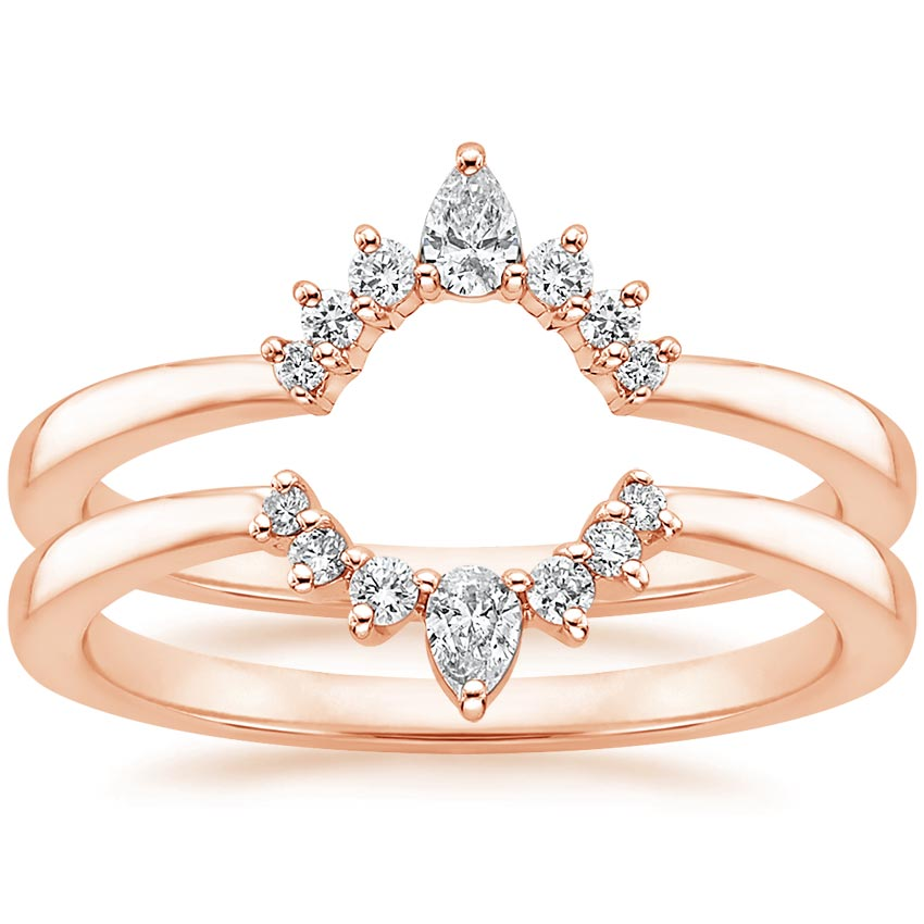 Lunette-Nested-Diamond-Ring-Stack-Rose-Gold