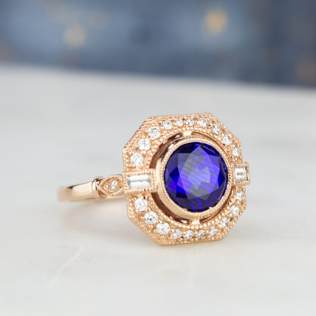 Something Blue Sapphire Engagement And Wedding Rings Brilliant Earth Blog