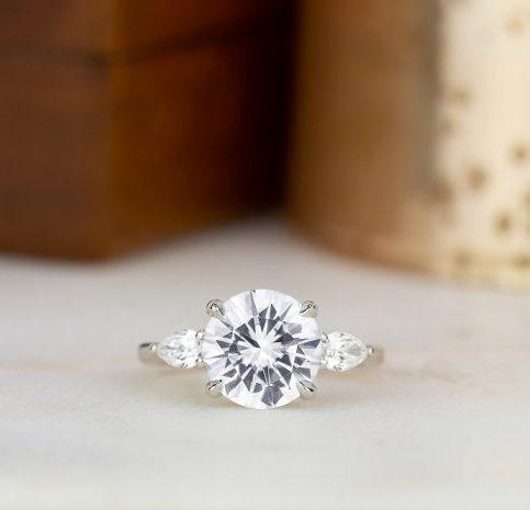 White Sapphire Engagement Rings Brilliant Earth Blog