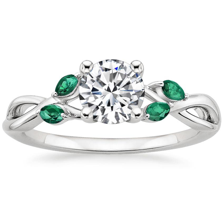 43e93c44f Engagement Ring With Emeralds | Willow | Brilliant Earth